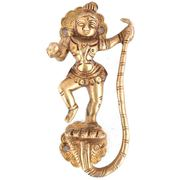 Brass Door Handles, Krishna with Snake Golden Brass Handle