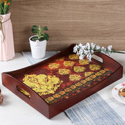 Latest Collection of Wooden Tray Set in India   Wooden Street